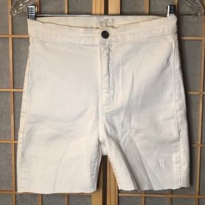 Garage High Waisted White Shorts